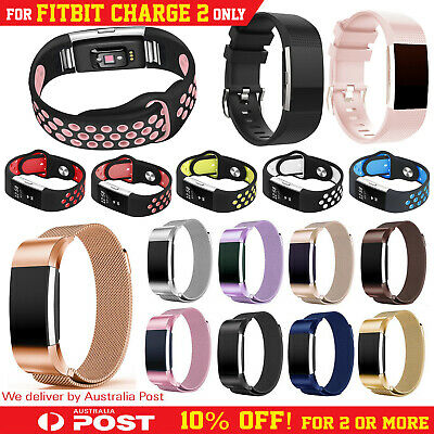 AU12.95 • Buy Fitbit Charge 2 Bands Replacement Silicone Metal Wristband Watch Strap Sports AU