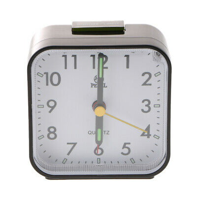 AU16.80 • Buy Small Quartz Analog Travel Alarm Clock With Snooze And Night Light-Black