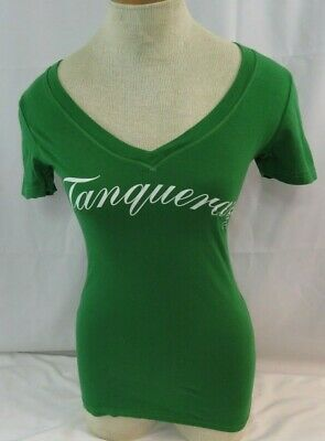 £9.18 • Buy Ladies Tanqueray Vodka Cap Sleeve Top V Neck Shirt Size S NEW