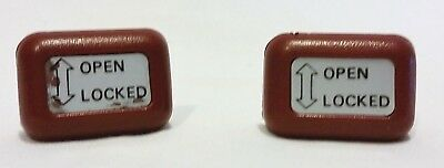 $25 • Buy Datsun 280-zx T-top Knob Roof Locks Release Button Red Oem 1978 - 1983