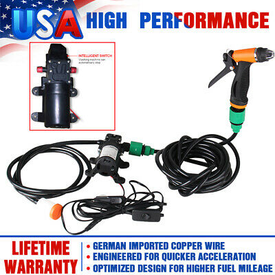 Mini Portable Electric Car Washer Kit 80W 130PSI High Pressure Water Pump DC 12V • 29.59$