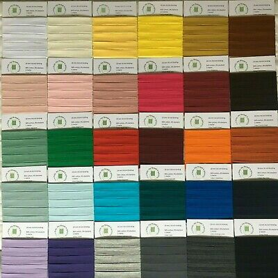 £3.65 • Buy Rib Knit Cotton Jersey Stretch Binding, 18 Mm, 20 Colours, 0.5 To 1.5 Metres