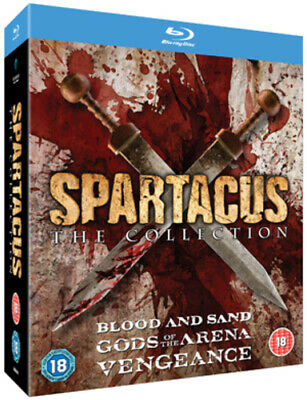 Spartacus Collection Blu-ray (2012) Andy Whitfield Cert 18 9 Discs Amazing Value • 49.99£