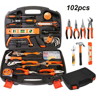 AU46.89 • Buy 102pcs DIY Household Hand Tool Kit Set Home With Organiser Heavy Duty Tools Box