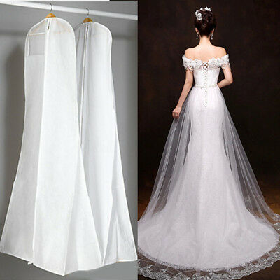 Extra Large Wedding Dress Bridal Gown Garment Breathable Cover Storage Bag White • 6.99£