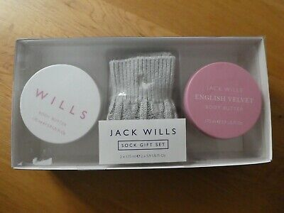 Jack Wills Bed Socks English Velvet & Signature  ~ Currently Unavailable In Lock • 15£