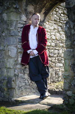 £29.99 • Buy LARP Medieval Reenactment Frock Coat Velvet Pirate 4 Colors Fit Up To 44  Chest