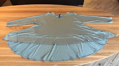 Yong Kim Ladies Modal Tab Top Tunic Uk Size 12 Olive Green Colour Vg Cond  • 22.99£