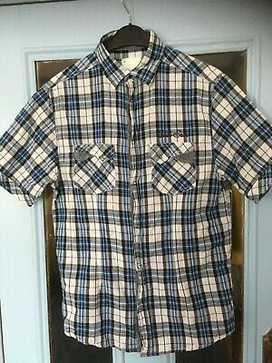 Short-sleeved Checked Men's Shirt By Soul Star - Size: Large • 5.95£
