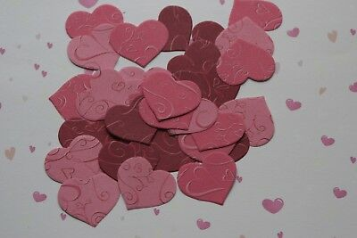 £2.55 • Buy 50 3 Shades Chic Love Hearts Valentines Wedding Table Confetti Decorations