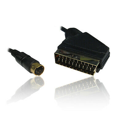 1.5 Metre SCART To SVHS/S-VHS S-Video SVIDEO Lead Cable Wire Video/DVD To PC • 5.99£