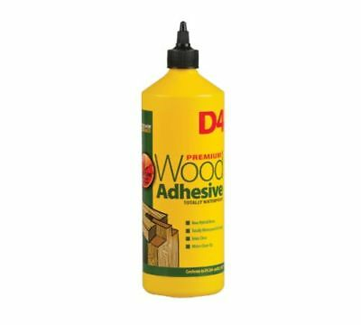 Everbuild D4 Premium Waterproof Industrial Grade Wood Adhesive Glue (1 Litre) • 8.52£