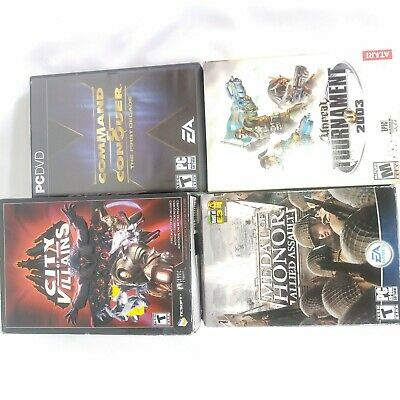 AU37.82 • Buy Lot Of 5 PC Games Command Conquer Farcry 1 Medal Honor Unreal Villains LH