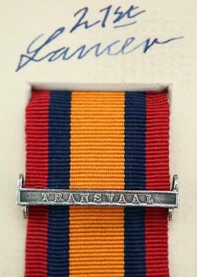 AU15.12 • Buy Qsa Queens South Africa Medal Ribbon Bar Clasp Transvaal Boer War Campaign