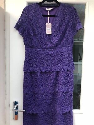 £13 • Buy KALIKO Purple NEW With Tags Lace Dress Size 12