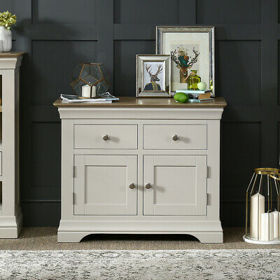 French Country Grey Painted 2 Drawer 2 Door Sideboard - FGR25 • 279£