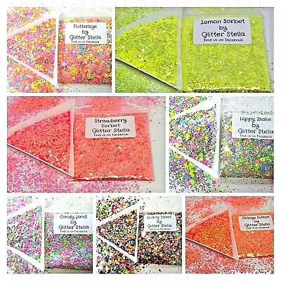 £1.20 • Buy Chunky Glitter 5g Bags Selection Choose Nail Art Craft Festival Party Neon Dance