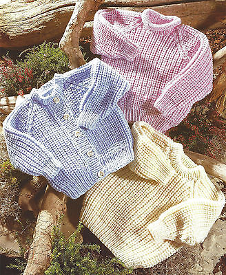 £1.99 • Buy Baby Childrens Chunky Cardigans & Sweater Knitting Pattern 22/34 Inch (781)