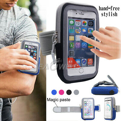 Sports Running Jogging Gym Arm Band Mobile Phone Touch Screen Holder Case Bag LA • 3.77£