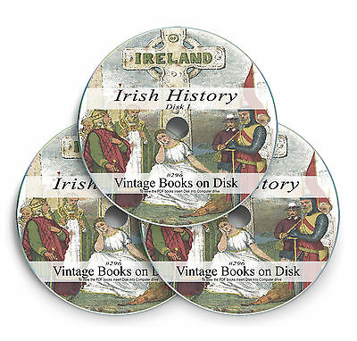 Irish History Genealogy Books Research 3 DVD Family Ancestry Ireland Culture 296 • 4.75£
