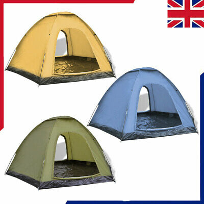 6 Person Man Family Camping Tent Outdoor Hiking Trip Sun Shelter Fishing Room • 52.59£
