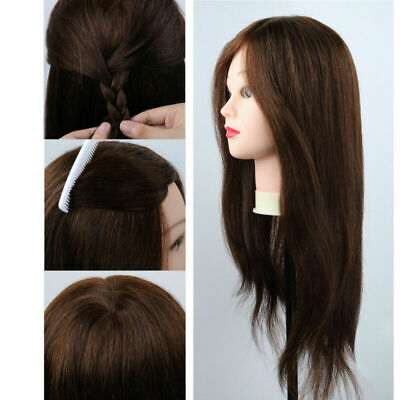 $31.49 • Buy 100% Real Human Hair Hairdressing Mannequin Salon Training Head With Stand Clamp