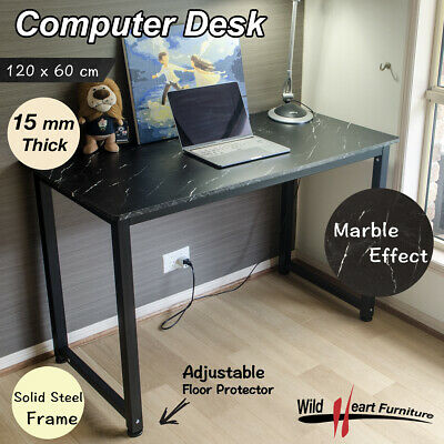 AU94.45 • Buy Computer Desk Study Office Table Black Marble PC Laptop Table Student Home Writi
