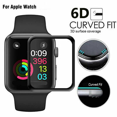 AU6.49 • Buy Apple Watch 6D Tempered Glass Full COVER Screen Protector IWatch 38/42/40/44mm