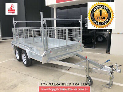 AU3870 • Buy 8X5 TANDEM TRAILER WITH LADDER RACKS & 600mm CAGE HEAVY DUTY 2000KG ATM NEW TYRE