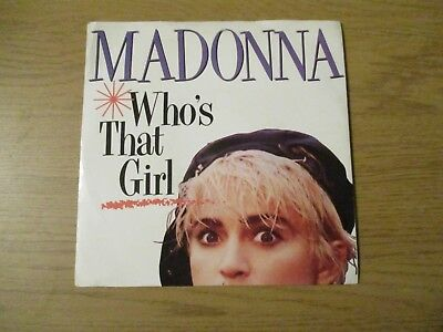 £4.99 • Buy Madonna ‎– Who's That Girl   Vinyl 7  Single UK 1987 Electronic Pop SIRE - W8341
