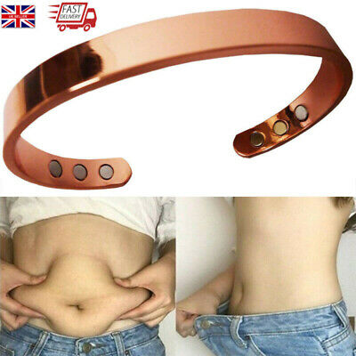 MAGNETIC COPPER BRACELET Bangle Cuff ARTHRITIS Pain Relief Healing Therapy NEW • 5.49£