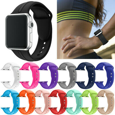 $ CDN3.93 • Buy Iwatch Original Silicone Replacement Band For Apple Watch Series 3 38/42mm