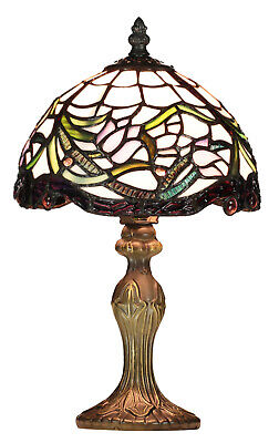 Handmade Contemporary 8'' Tiffany Style Table Lamps - Indoor Bedside Lighting • 54.99£