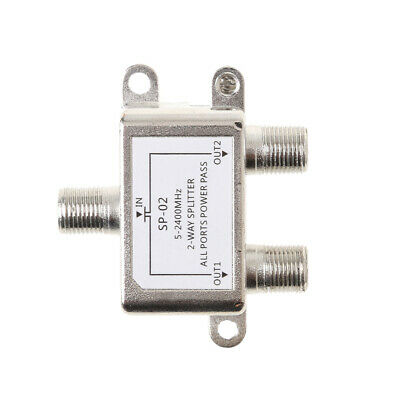 AU8.62 • Buy 2 Way Cable TV Splitter Coaxial Coax HDTV Signal 5-2400MHz