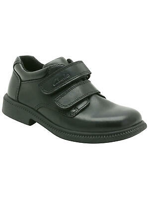 Clarks Deaton Leather Shoes / Black 7.5H Eur25 Brand New Free UK Postage • 22.43£