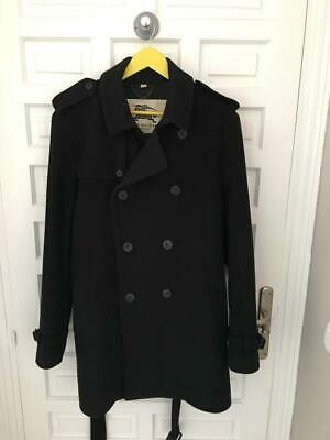 Burberry Men's Trench Coat. Wool And Cashmere. Black. Size 54. • 380£