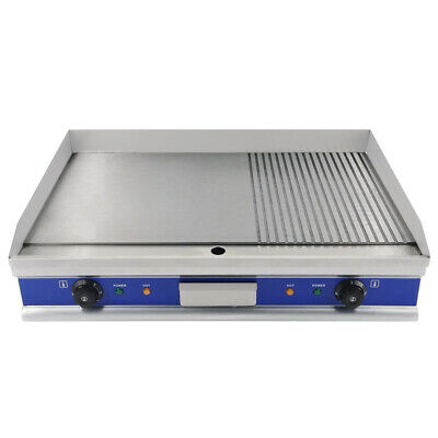 £205 • Buy UK Commercial Electric Griddle BBQ Grill Countertop Large Flat /Grooved Hotplate
