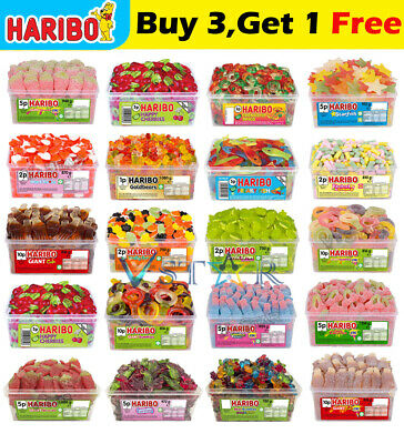 £9.95 • Buy 1 X Full Tub Haribo Sweets Pick N Mix Kids Candy Box Party Favours Treats