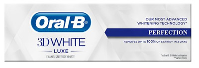 View Details Oral-B 3D White Luxe Perfection Mint Toothpaste Whitening Enamel Protect 75ml • 5.99£