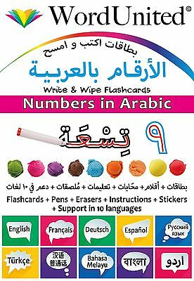 Numbers In Arabic - Write & Wipe Flashcards With Multilingual Support • 11.99£