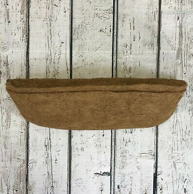 £9.99 • Buy Pack Of 2 Garden Co-Co Wall Basket Planter Coco Trough Liner 60cm