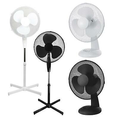 Pedestal Cooling Fan Desk Fans Oscillating Stand Standing Home Office 3 Speed • 16.05£