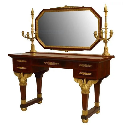 $29250 • Buy French Second Empire Mahogany Dressing Table With Candelabra, 19th Century