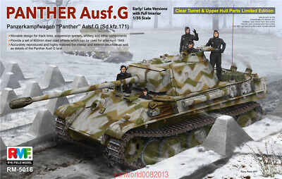 $79.99 • Buy Ryefield-Model 1/35 5016 Sd.Kfz.171 Panther Ausf.G W/Full Interior/Clear Parts
