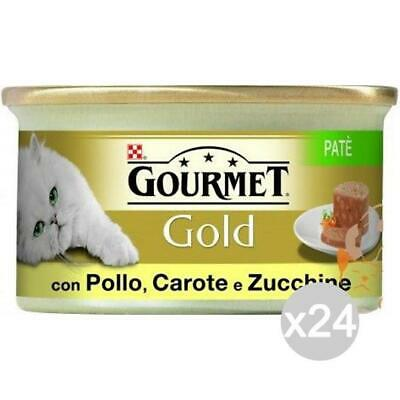 Set 24 PURINA Gourmet Gold Pate 'Chicken Carrots Zucch Gr.85 Food For Cats • 20.07£