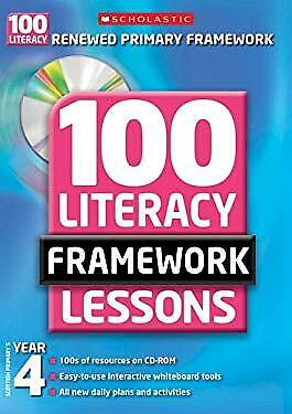£2.90 • Buy 100 New Literacy Framework Lessons For Year 4 With CD-ROM Hybrid