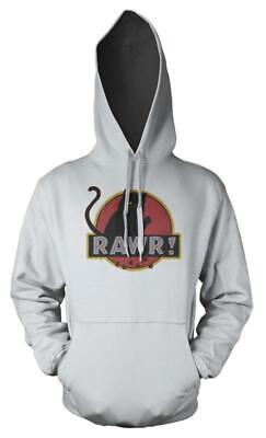 Dinosaur Park Kitty Cat Rawr! Mashup Adult Hoodie • 16.99£