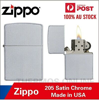 AU32.99 • Buy Genuine Zippo Lighter 205 Satin Chrome, Made In USA, OZ Seller Best Price!