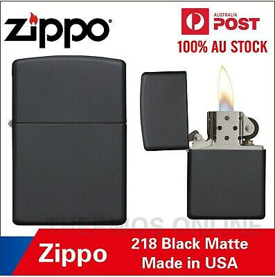AU38.95 • Buy Genuine Zippo Lighter Black Matte 218, 90218, Made In USA, OZ Seller Best Price!