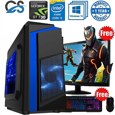 Fast Gaming PC Computer Bundle Intel Quad Core I5 8GB 1TB Windows 10 2GB GT710  • 259.99£